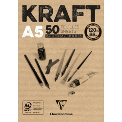 Bloc collé Kraft brun 100F 90g