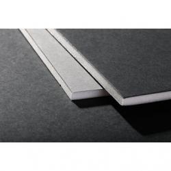 Carton mousse 5mm Noir/Gris