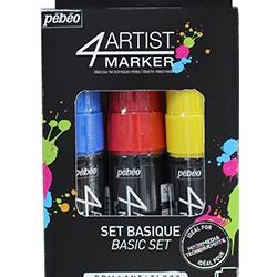 4Artist Marker Set 3 x 8 mm...