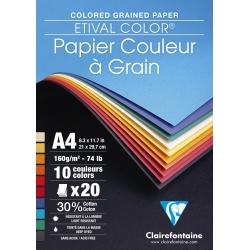 Bloc dessin couleur à grain...
