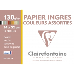 Pochette papier Ingres...